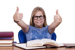Girl in school Royalty Free Stock Images
