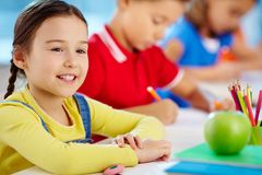 Girl at school Royalty Free Stock Photo