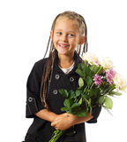 Girl in a school jacket Royalty Free Stock Images