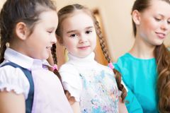 Girl in the school Royalty Free Stock Photography
