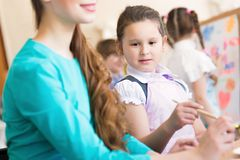 Girl in the school royalty free stock photos