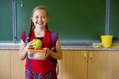 Girl at school royalty free stock images