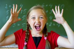Girl at school stock photography