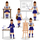 Girl at the School Royalty Free Stock Images