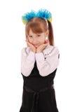 Girl in school uniform Stock Photos