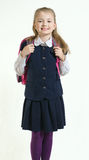 The girl in a school uniform Royalty Free Stock Photography