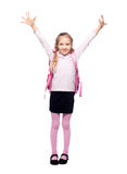 Girl with schoolbag Royalty Free Stock Images