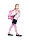 Girl with schoolbag Stock Image