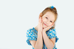 Girl schoolgirl posing as a pro model Stock Photo