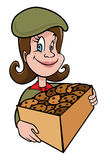 Girl scout cookies Royalty Free Stock Image