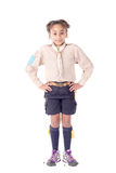 Girl scout. Little girl scout isolated in white Stock Photo