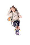 Girl scout. Little girl scout isolated in white Royalty Free Stock Photography