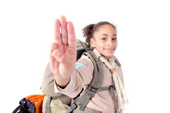 Girl scout Royalty Free Stock Images