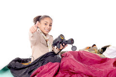 Girl scout royalty free stock photos
