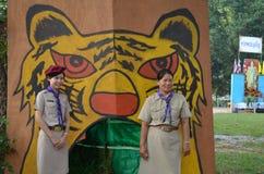 Girl-scout tailandesi dell'insegnante Fotografia Stock Libera da Diritti