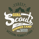Girl Scouts summer camp t-shirt Stock Photos