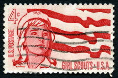 Girl Scouts US Postage Stamp Stock Photo