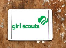 Girl Scouts of the USA logo. Logo of Girl Scouts of the USA on samsung tablet. Girl Scouts, is a youth organization for girls in the United States and American royalty free stock image