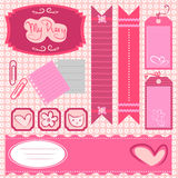 Girl scrapbook set Stock Photography