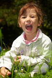 Girl screaming Royalty Free Stock Image