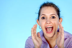 Girl screaming Stock Photos