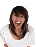 Girl screaming. Asian girl screaming out loud Stock Images