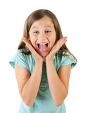 Girl screaming Stock Photo