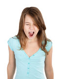 Girl screaming Royalty Free Stock Photo