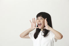 Girl screaming Stock Image