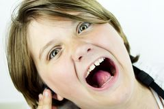 Girl Screams Stock Images