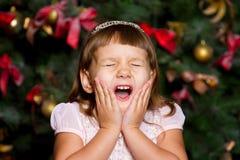 Girl screams Royalty Free Stock Photo