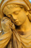 Girl sculpture mourning Royalty Free Stock Photos