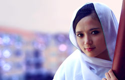 Girl in scurf Stock Photography