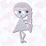 Girl with a scythe Stock Image
