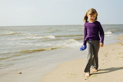 Girl and sea Stock Image