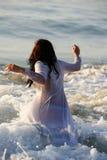Girl in sea Royalty Free Stock Image