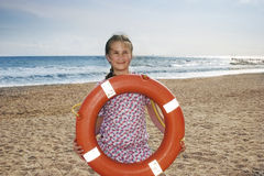Girl at the sea Royalty Free Stock Photos