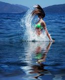 Girl in the sea Stock Image
