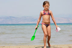 Girl in the sea Royalty Free Stock Photo