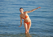 Girl at the sea Royalty Free Stock Photography