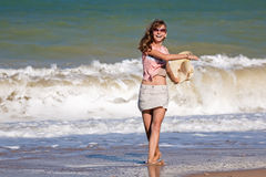 Girl at the sea Stock Photo