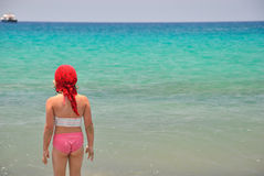 Girl by the sea. Royalty Free Stock Image