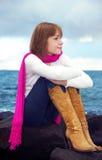 Girl at sea Royalty Free Stock Photo