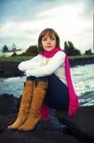 Girl at sea Royalty Free Stock Photography