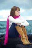Girl at sea Stock Photo