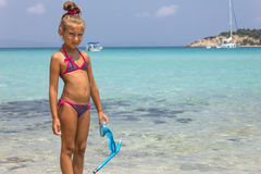 Girl in the sea Stock Photography