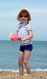Girl at Sea Stock Image