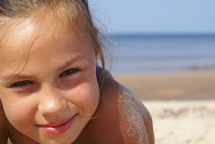 Girl and the sea royalty free stock photography