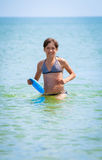 Girl in the sea Stock Photo
