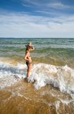 Girl & sea Royalty Free Stock Images